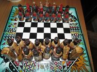 Chess South American Unique Spanish conquest Made in Chile.