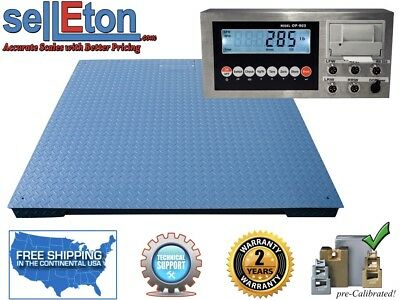 Heavy Duty Warehouse Floor Scale 7 X 7 84 30000 Lbs X 5 Lb