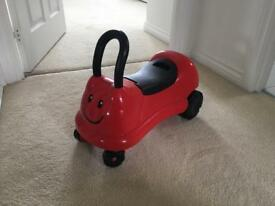 Mothercare Easy Wheels Ladybird Ride On