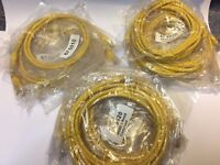 (Set Of 12) CAT5e UTP 350 MHZ Ethernet Patch Cable, 4x 1m, 4x 2m, 4x 3m, Yellow