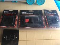 Black Nickel Plug & Switch Sockets x4
