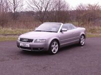 AUDI A4 1.8T S-LINE CONVERTIBLE 12 MONTHS M.O.T 6 MONTHS WARRANTY (FINANCE AVAILABLE)