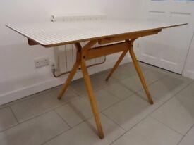 Vintage Mid Century Frank Guille Kandya 1950's Drop Leaf Dining Kitchen Table