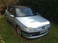 2000 Peugeot 306 Cabriolet S 1.8, Alloys, Half leather. 82,000 miles, Damaged Unrecorded P/X ANYTHIN