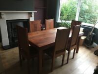 Solid wood period dining table & chairs