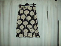 Kookai black and cream knee length skirt size 36( small)