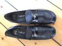 Gabor lady shoes black leather