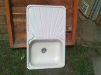 caravan or camper cream sink
