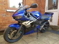 Yamaha R6 2003 low miles 20k. Excellent condition. 11 MOT. Sad to see go.