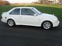 1986 FORD ESCORT GENUINE 1.6 RS TURBO MK4 3 D00R FUTURE CLASSIC QUICK CAR LONG MOT