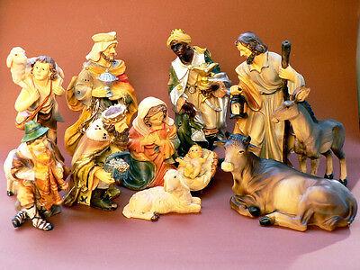 K115 Mathiaskrippe 19cm 11 tlg. Krippenfiguren Krippe Weihnachtskrippe