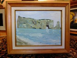 TABLEAU LE ROCHER PERCÉ / OIL PAINTING THE PERCÉ ROCK