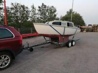 Seawitch 19ft Twin Keel Fibre Glass Sailing Boat