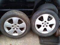 """Vauxhall vectra 16""""alloys and tyres"""