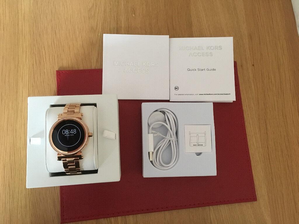 New Michael Kors Women S Smartwatch Sofie Mkt5022 Rose Gold In