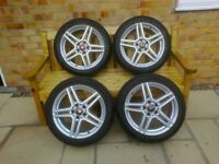 wolf race wheels + tyres for V W caddy / golf