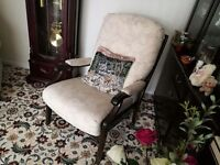 Cottage style settee and armchair from Fultons, in excellent condition