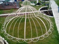 METAL CREAM GAZEBO/ARBOUR TOP.DOUBLE DOMED WITH ORNAMENTAL TOP.NEW