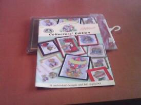 New DMC Country Companions book of cross stitch individual design and full alphabet.