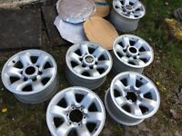 Nissan Patrol Alloy Rims Ideal for fitting Winter Snow Tyres 16 inch OEM part 6 available £45 each