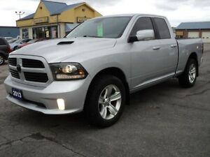 2013 RAM 1500 Sport QuadCab 4X4 5.7L Hemi 6ft Box