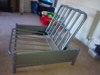 Metal single sofa cum bed.