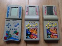 vintage 3 x handheld game consoles
