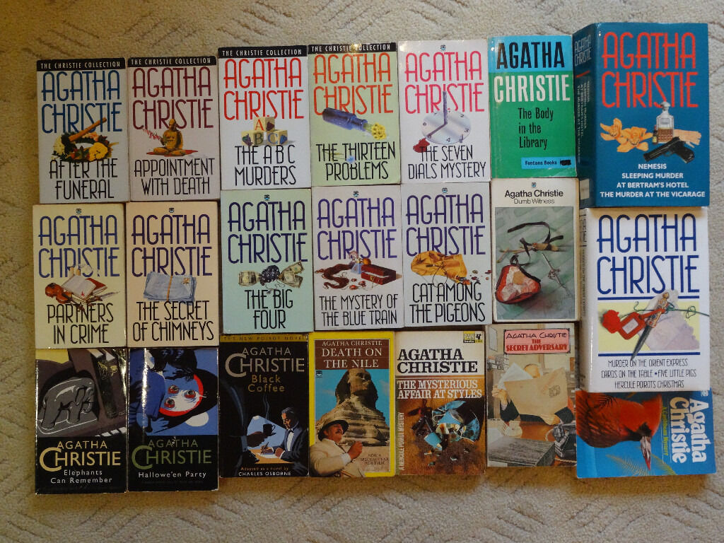 Agatha Christie books, 21 books, 25 stories, all in excellent condition - less than 50p each