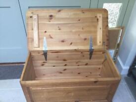 Wooden chest -1.2 x .5 x .5m