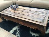 Large solid wood Chinese style coffee table