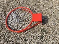 Heavy duty basketball ring
