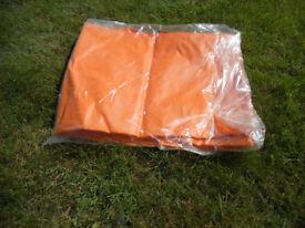 BRAND NEW STILL IN PACKET--ORANGE SIZE XL WATERPROOF LEGGINGS