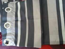 Black/Grey curtains, approx 162x168cm, great condition