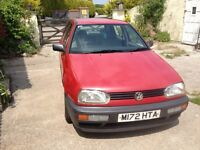 VW Golf with 9 Months MOT