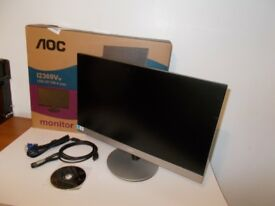"AOC Full HD 23"" LED Monitor. Boxed as new / 2x HDMI inputs / Mobile Hi-Def Link / Clear edge border"