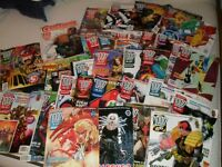 Various 2000 AD comics from early 1990s + 2000AD playing cards / badge / cards