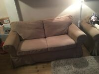Two piece IKEA sofa with armchair