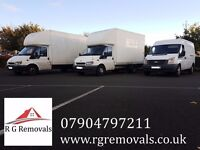 R G REMOVALS HOUSE AND OFFICE REMOVALS, TRANSPORT, MAN AND VAN, HOUSE CLEARANCES