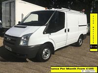 SALE!! 2010 Ford Transit Van 2.2 300-1 Owner-EX BT,FSH -10 Stamps, 1YR MOT, 92 K Miles ,Elec Windows