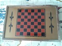 Vintage Magnetic Chess/Backgammon/Draughts Travel Set £15