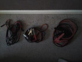 THREE PAIRS OF CAR JUMP LEADS GOOD QUILT £10 FOR THE LOT NO TEXTS