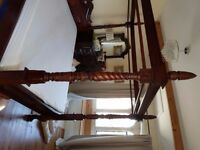 Antique Reproduction Queen Anne four Poster- King Size