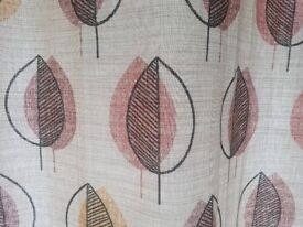 Ring top lined curtains 66 x 72