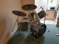 Pearl Export Drum Kit, hardware, cymbals, cymbal case, stick bag