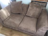Corduroy 2 seater sofa
