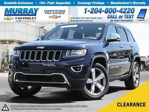 2016 Jeep Grand Cherokee Limited *Leather Heated Seats, Sunroof*