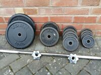YORK CAST IRON WEIGHTS SET