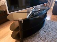 BLACK GLASS OVAL TV STAND - £30 ono