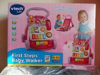 VTECH FIRST STEPS BABY WALKER (Brand new in box)