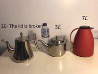 Thermos, steel teapot & steel coffee pot (urgent)